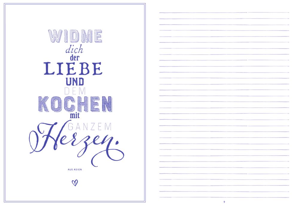 Meine liebsten Rezepte - Einschreibbuch (Lavendel)