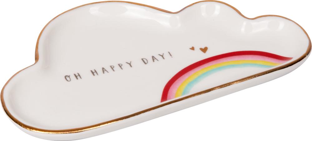 Happy Day, Kleiner Porzellan-Teller mit Botschaft Viel Glück