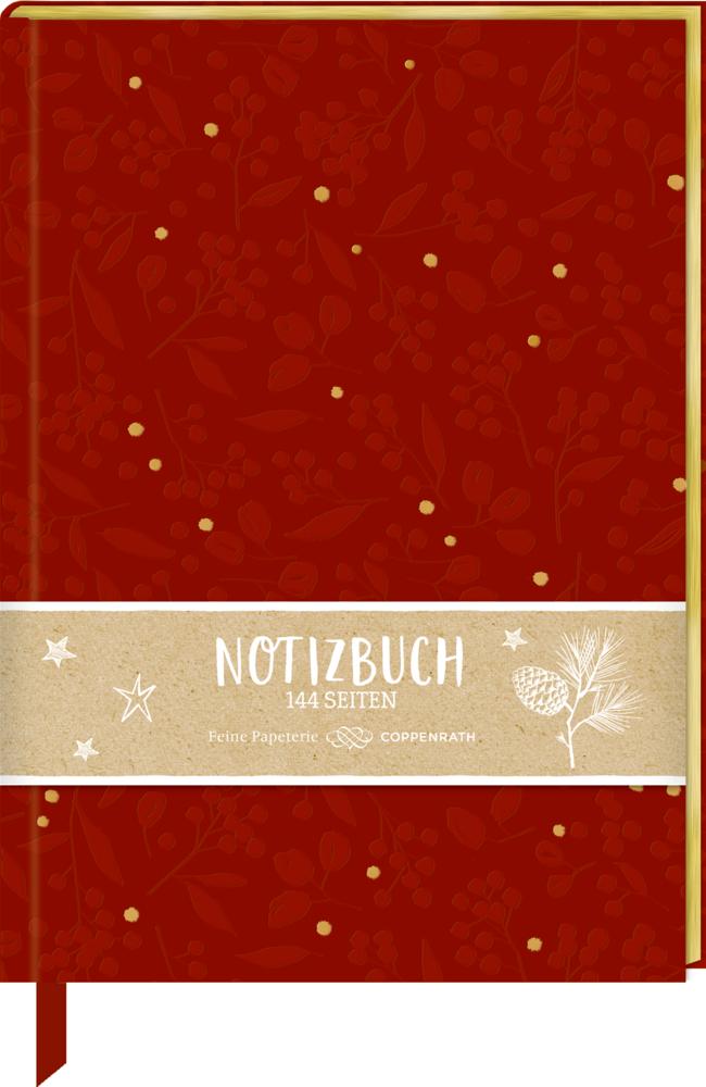 Samt-Notizbuch Beeren & Blätter