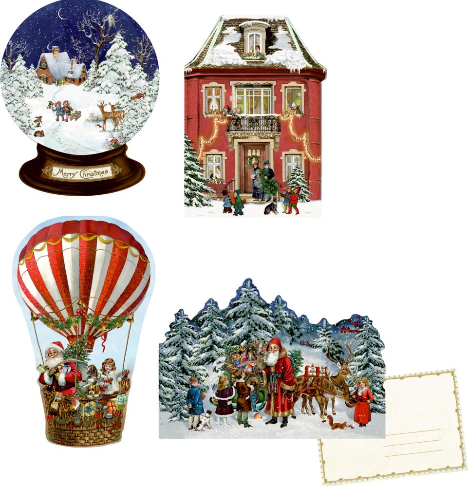 Nostalgische Weihnachten, Mini-Adventskalender (Behr)