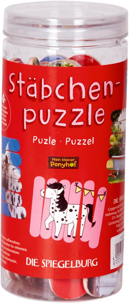 Stäbchen-Puzzle Dotti Mein kleiner Ponyhof (3x6 Teile)