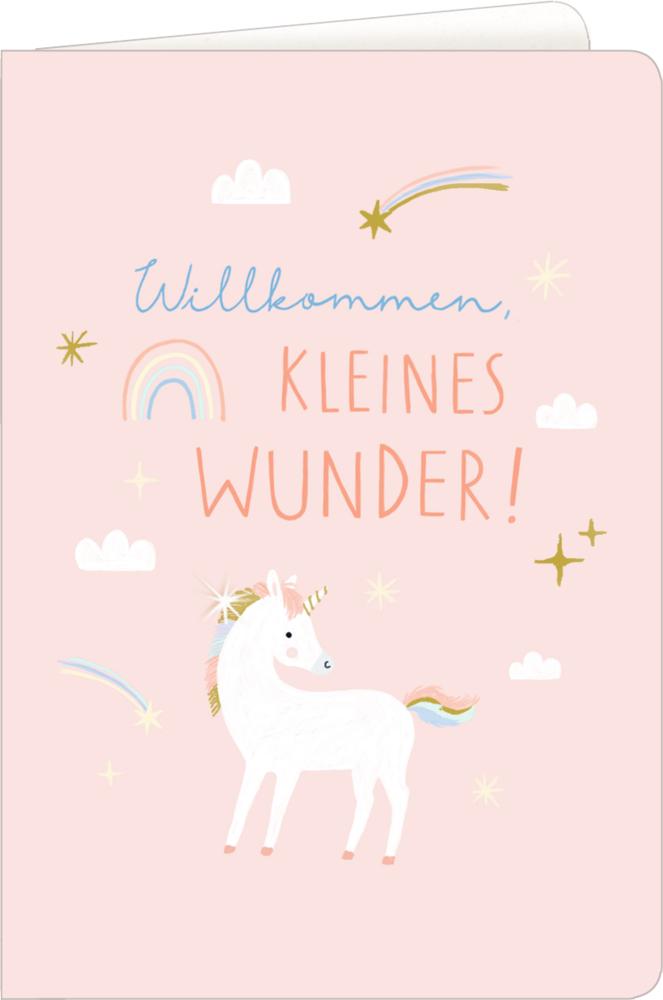 Einhorn, Grußkarte Meine kleine Welt - Willkommen!