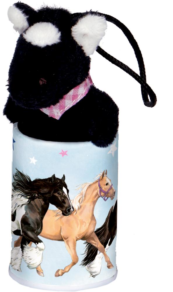 schwarz, Pferde-Anhänger im Döschen  Pferdefreunde