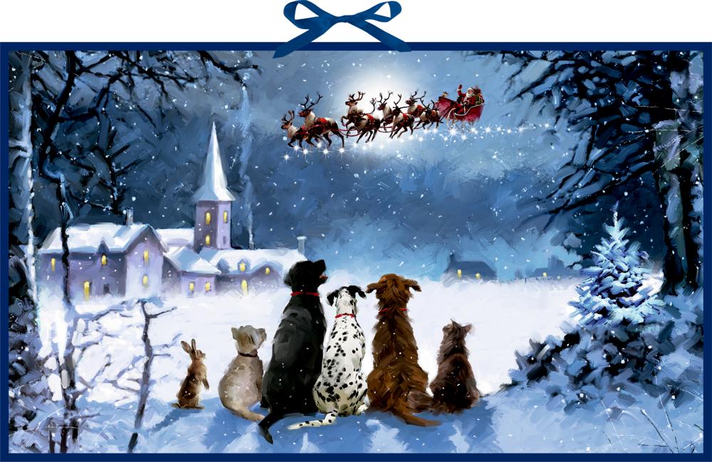 Wunderbare Hunde-Weihnacht, Wand-Adventskalender