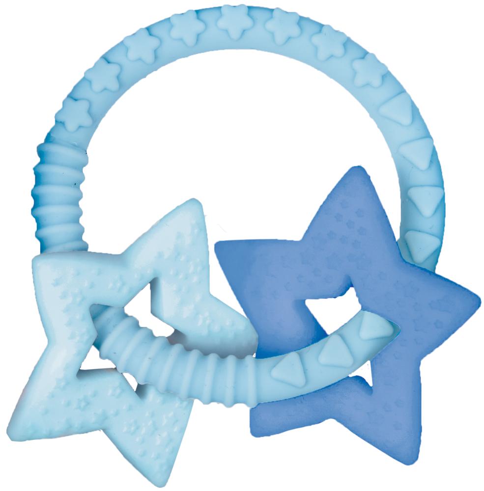 Beißring BabyGlück, hellblau (mit 2 Sternen)