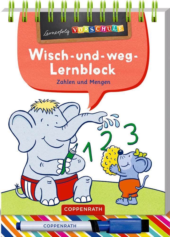 Lernerfolg Vorschule: Zahlen&Mengen (Wisch-&-weg-Lernblock)