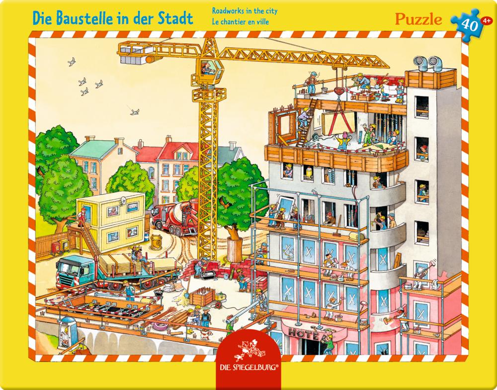 Rahmenpuzzle Die Baustelle in der Stadt (40 Teile)