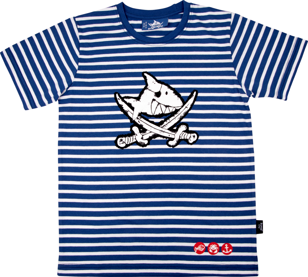 T-Shirt Capt'n Sharky, one size (Gr.104/116)