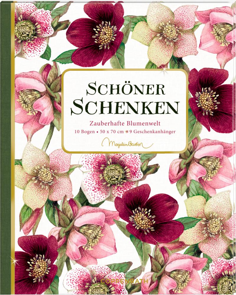 Geschenkpapier-Buch - Schöner schenken Zauberhafte Blumenwelt (Bastin)