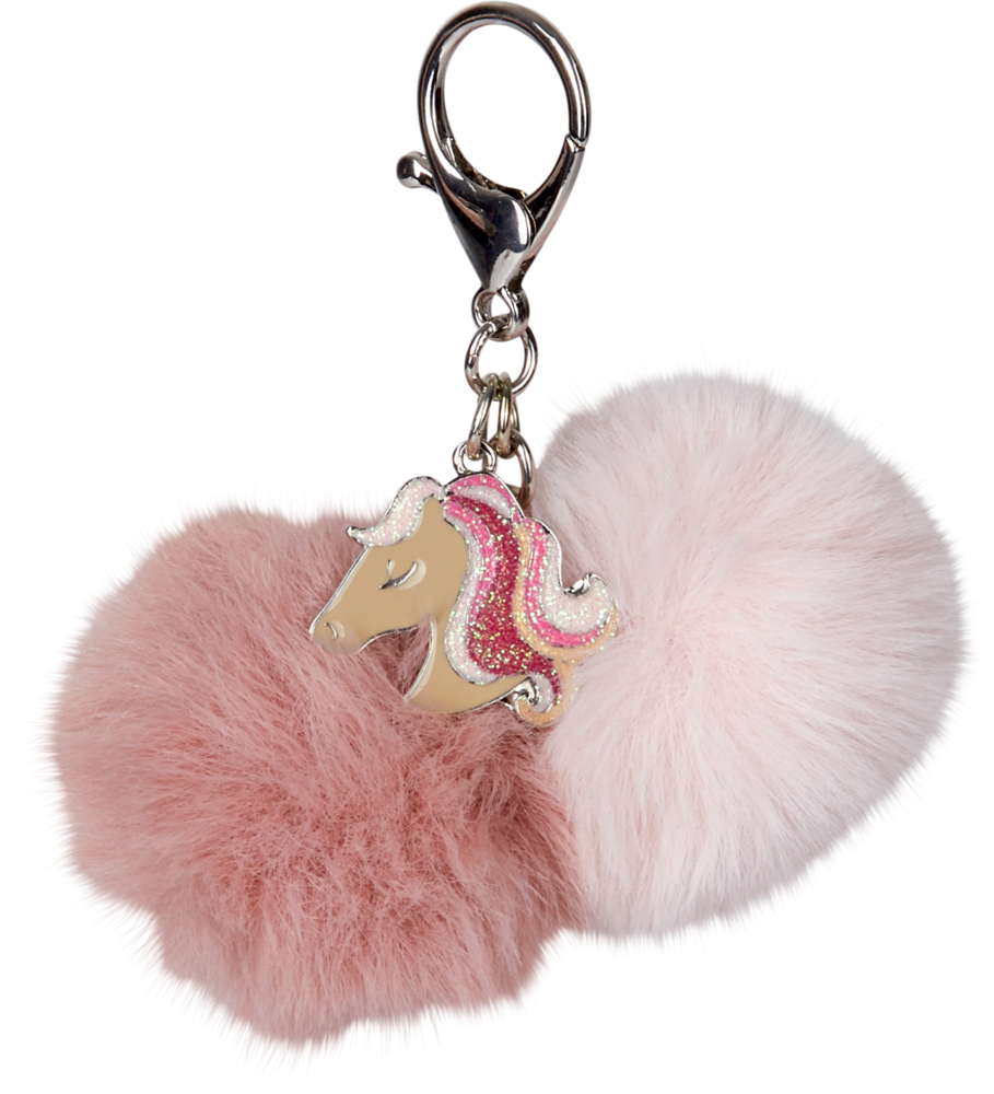 Schlüsselanhänger Pompom Pferdefreunde