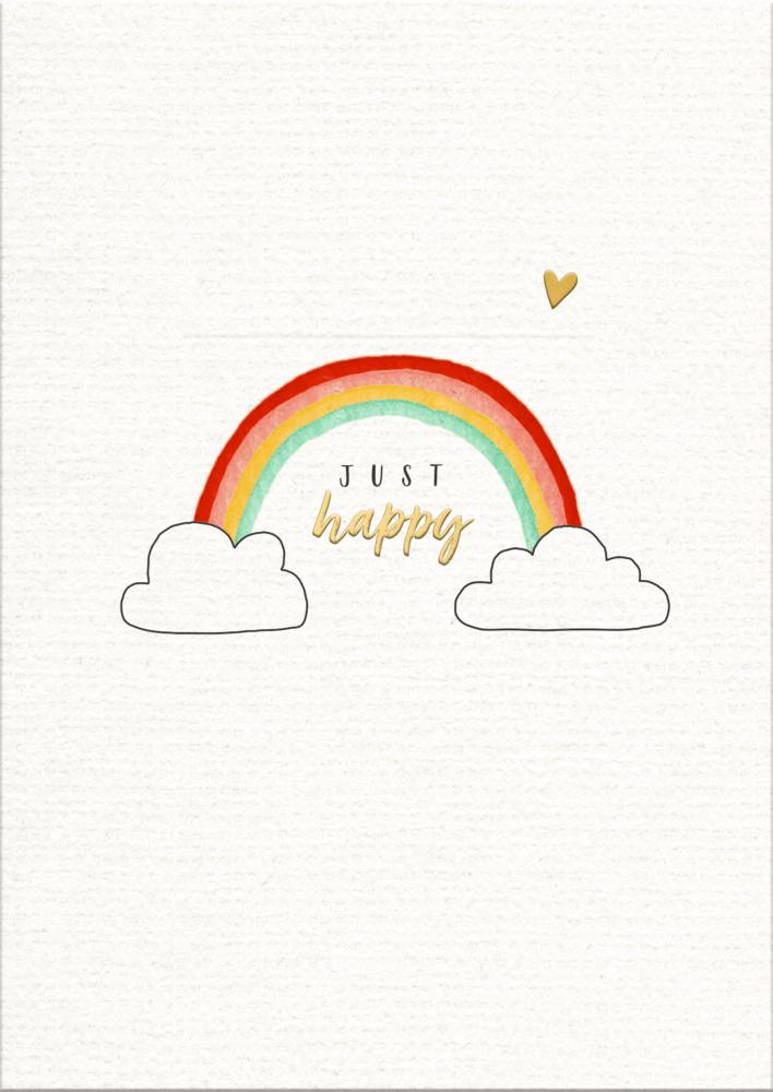 Glückskarten-Set mit Bilderleiste Viel Glück