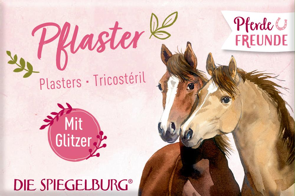 Pflasterstrips mit Glitzer Pferdefreunde (10 Stück)