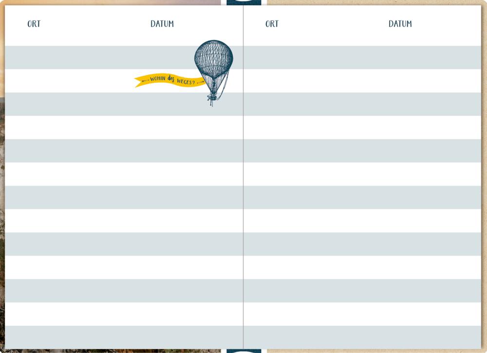 Eintragbuch mit Sammeltasche: Mein Reisetagebuch (Valley/Reisezeit)