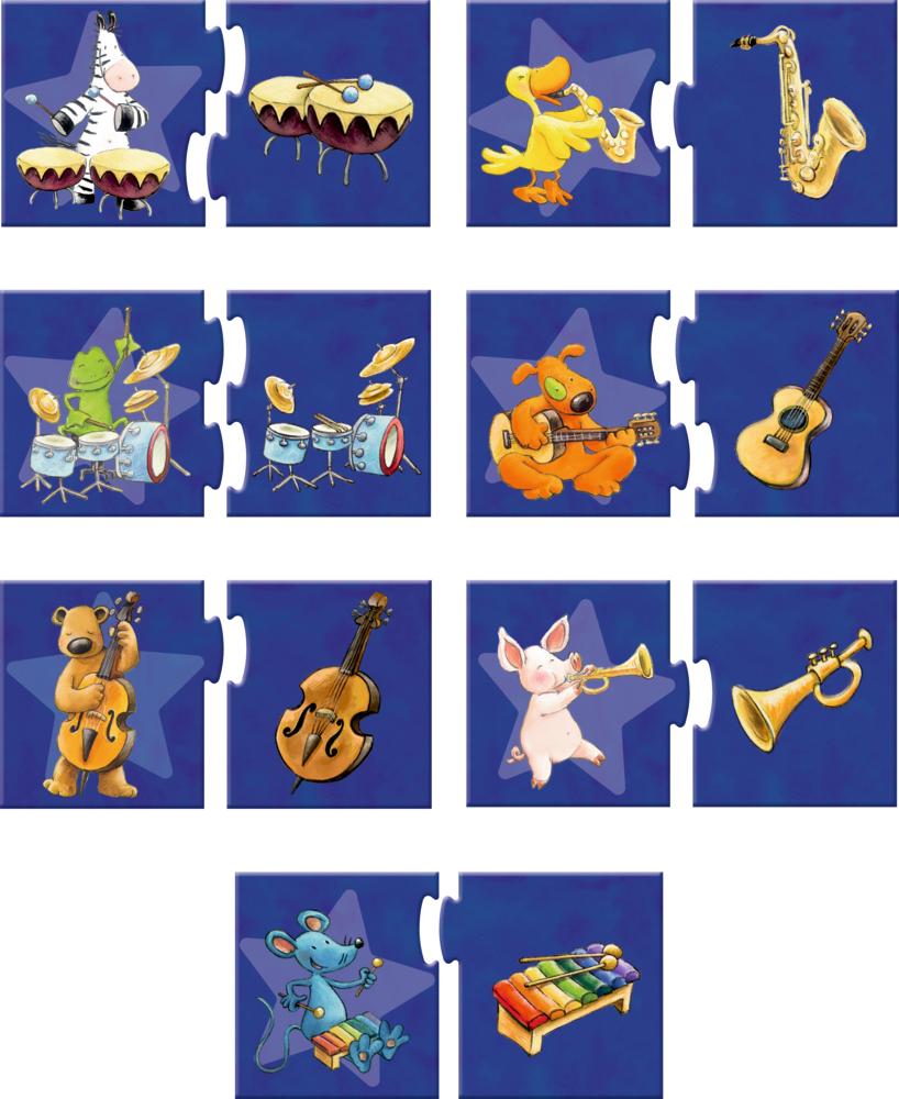 """Puzzle-Set """"Was gehört zusammen?"""" Die Lieben Sieben (7x2 Teile)"""