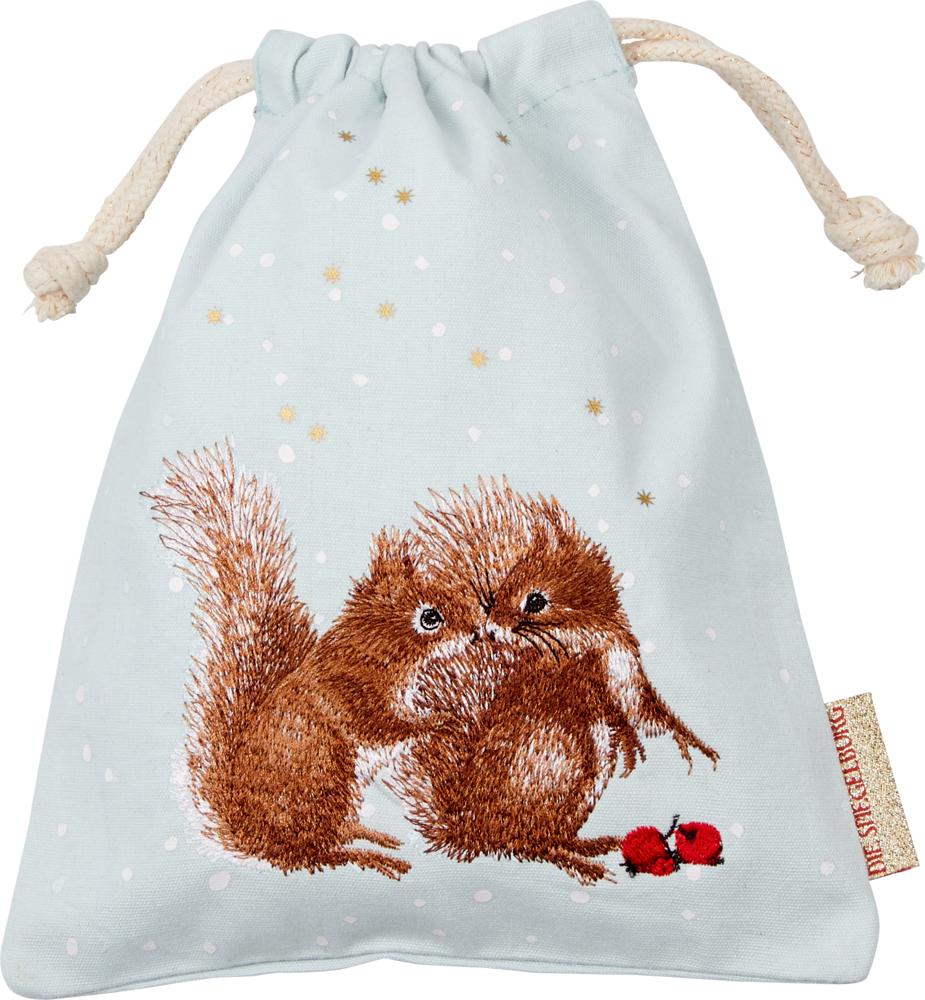 Eichhörnchen, Stoffsäckchen Zauberhafte Weihnachten M.Bastin