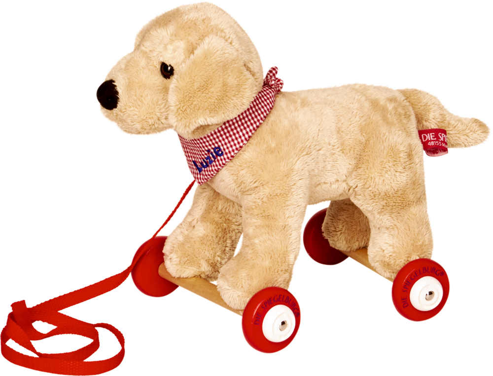 Labrador Luzie auf Holzrollen - Lustige Tierparade