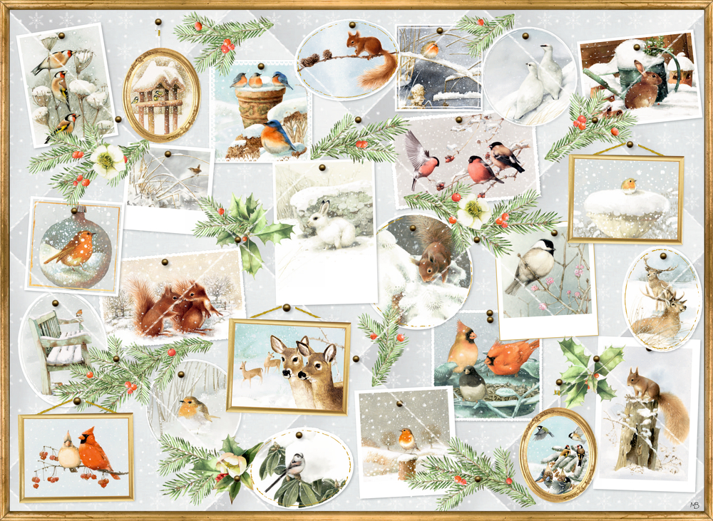 Marjoleins Wintergalerie, A4 Wand-Adventskalender (M.Bastin)