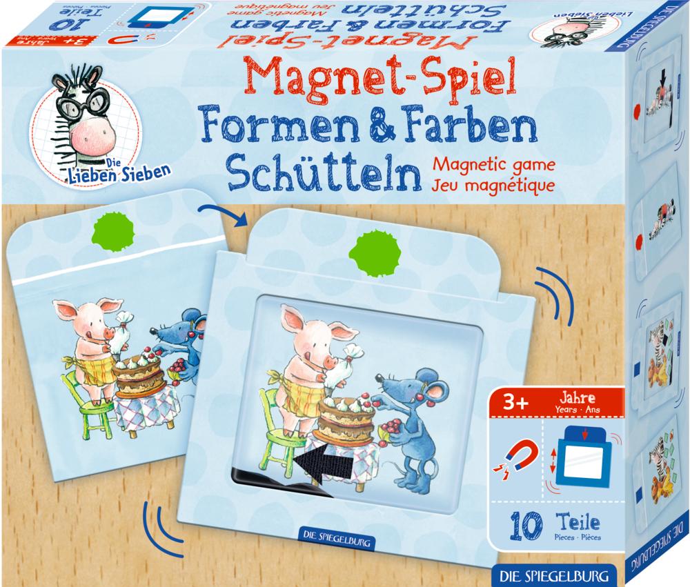 Magnetspiel Formen & Farben Schütteln Die Lieben Sieben