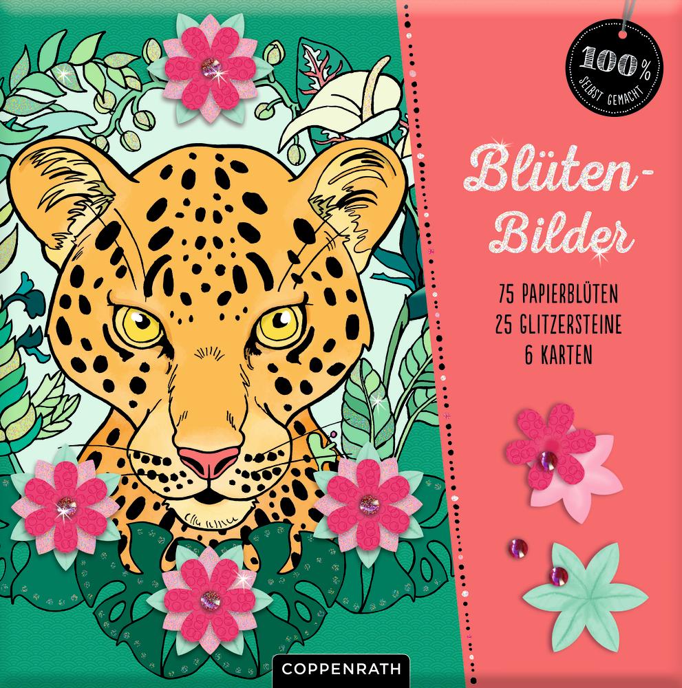 Blütenbilder: Karten, Papierblüten & Glitzerstein (100% selbst gemacht)