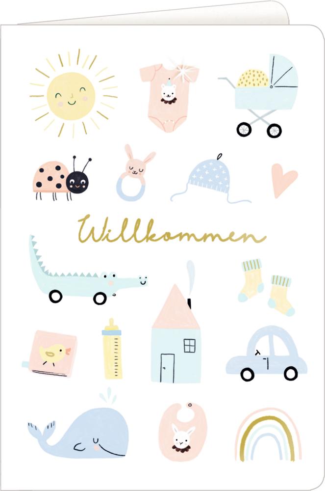 Willkommen/Haus, Grußkarte Meine kleine Welt - Willkommen!