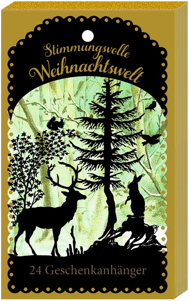 Stimmungsvolle Weihnachtswelt - 24 Geschenkanhänger, Adventskalender (Behr)
