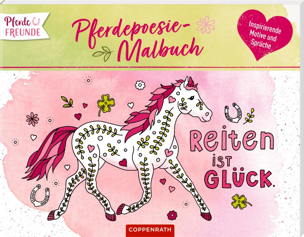 Pferdefreunde: Pferdepoesie-Malbuch