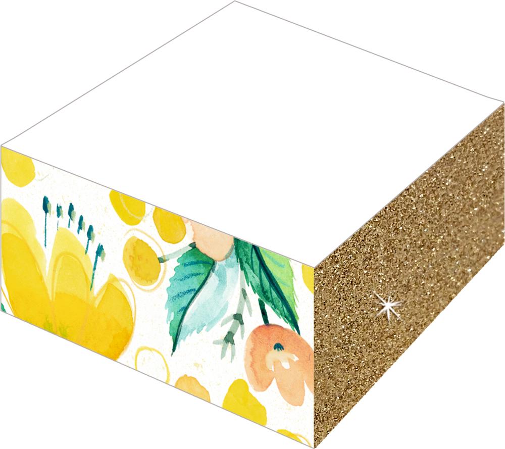 Notizblock mit Farb- und Glitterschnitt - All about yellow