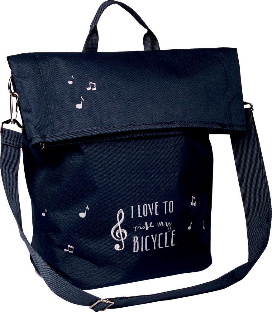 """Fahrradtasche """"I love to ride ..."""" All about music"""
