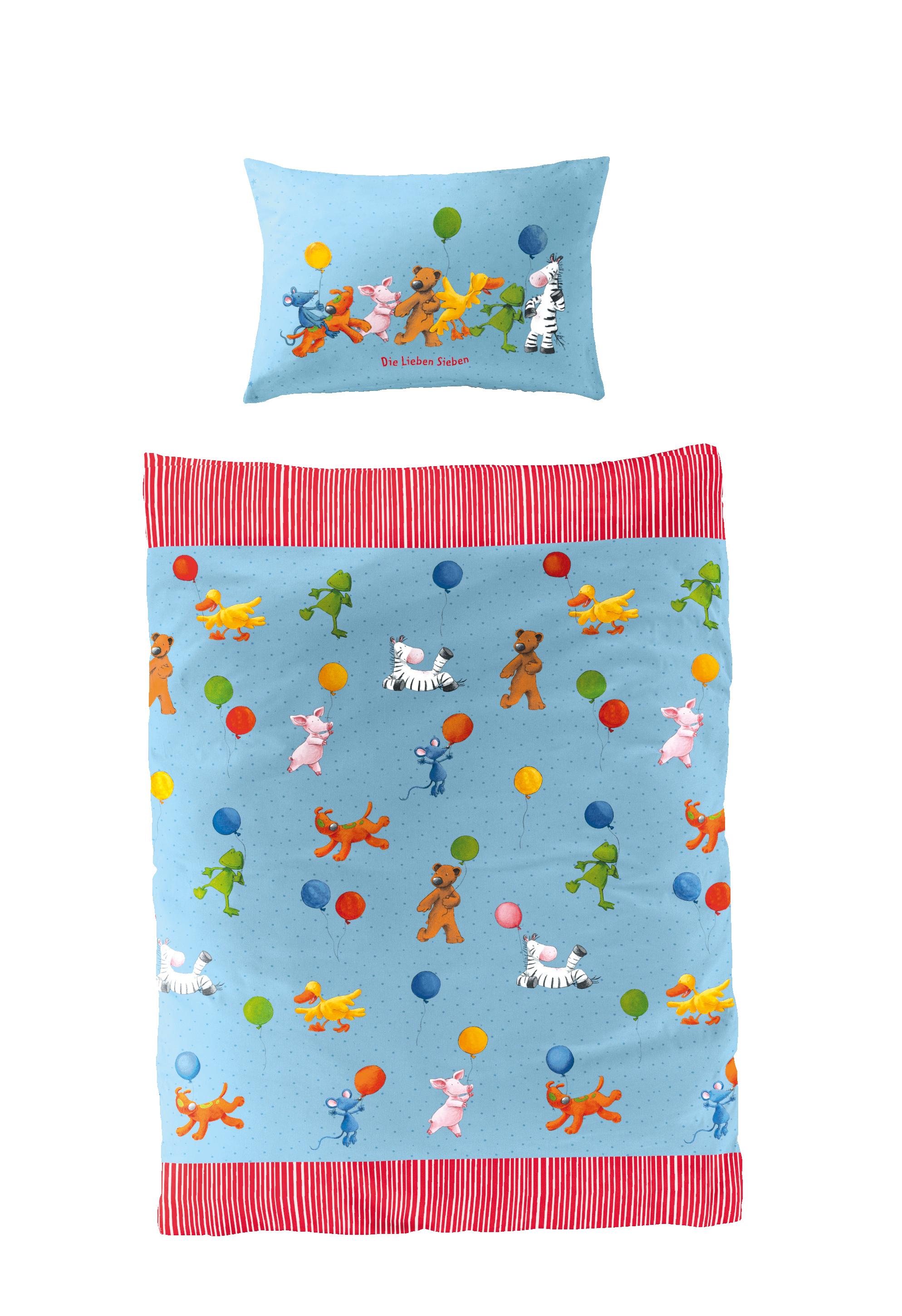 Kinderbettwäsche Die Lieben Sieben (100x135/40x60cm) (Marke Bierbaum)