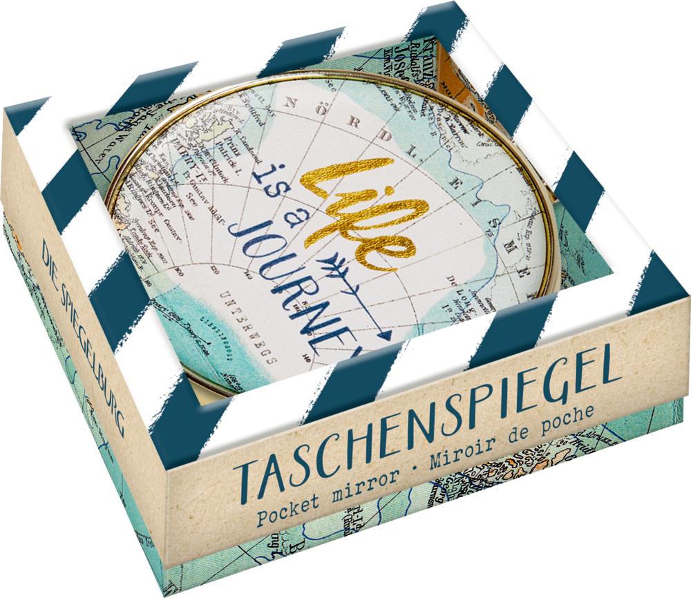 """Taschenspiegel """"Life is a journey"""" Reisezeit"""