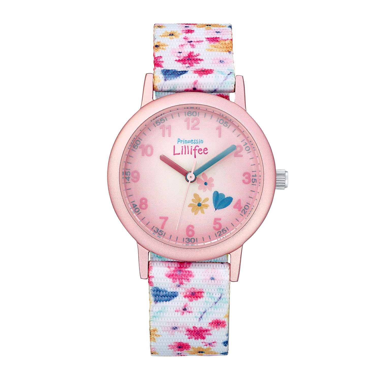 rosa/weiß, Armbanduhr Prinzessin Lillifee (Marke Amor)