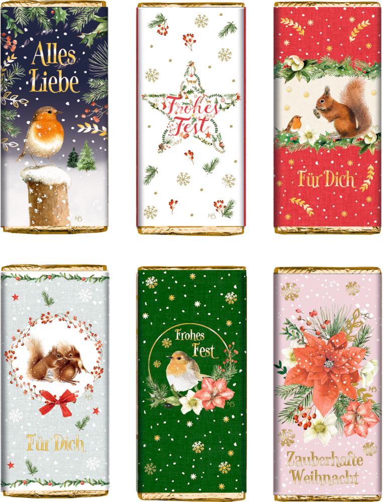 """Schokolade """"Zauberhafte Weihnachtsgrüße"""" M.Bastin 30 g"""
