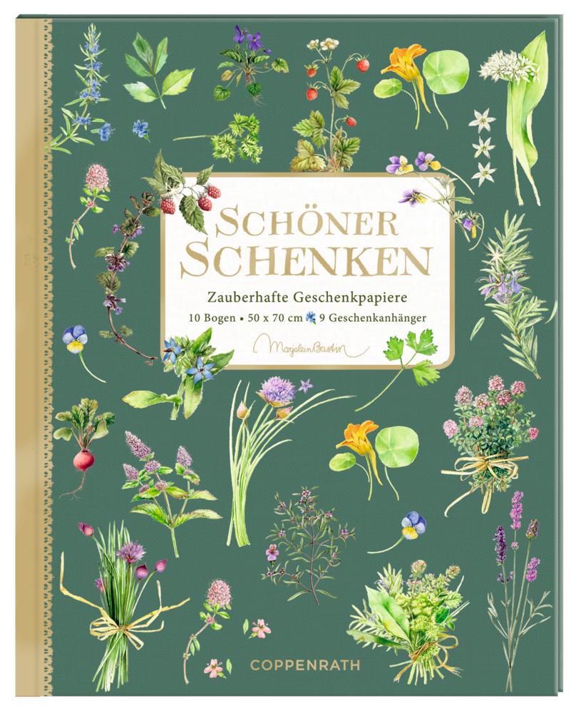 Geschenkpapier-Buch - Schöner schenken (Bastin/Kräuter+Blumen)