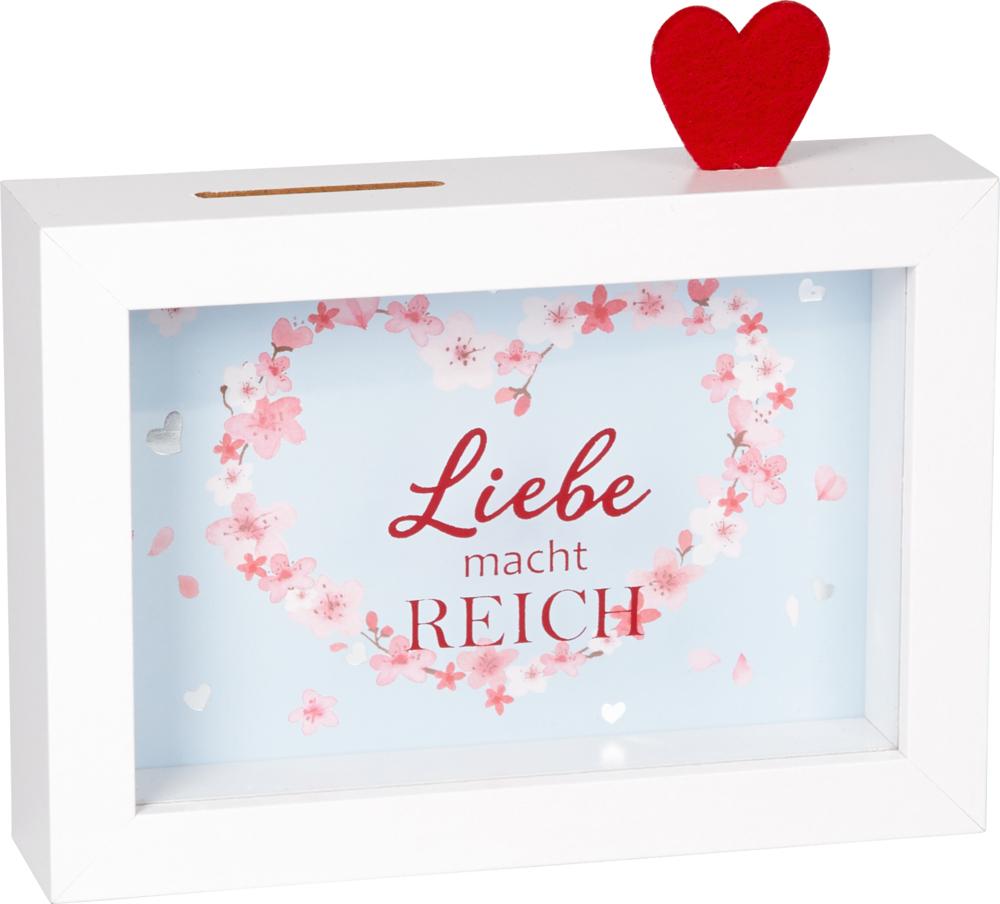 """Bilderrahmen-Spardose """"Liebe ..."""" (Just married)"""