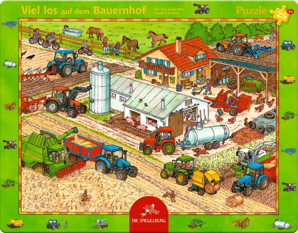Rahmenpuzzle Viel los auf dem Bauernhof (25 Teile)
