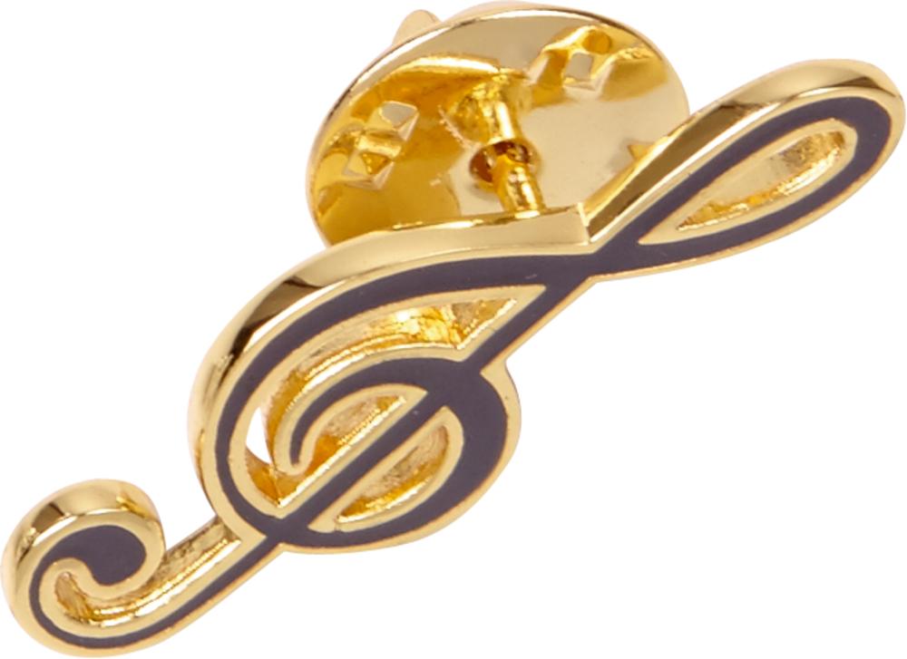 goldener Ansteck-Pin All about music (Violinschlüssel)