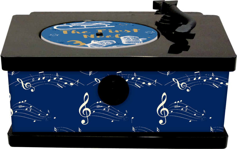 It's Christmas Time Vintage-Plattenspieler, Sound-Adventskalender