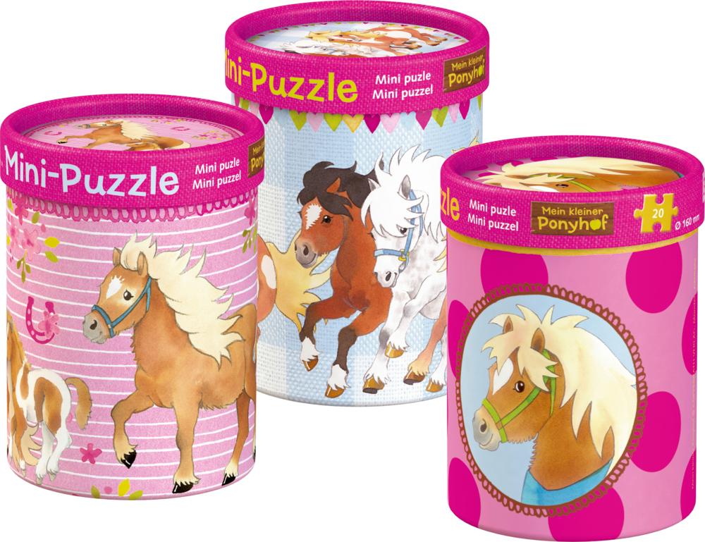 Mini-Puzzle  Mein kleiner Ponyhof (20 Teile)