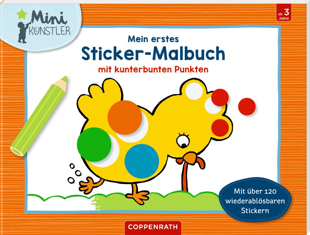 Mein erstes Sticker-Malbuch mit kunterbunten Punkten