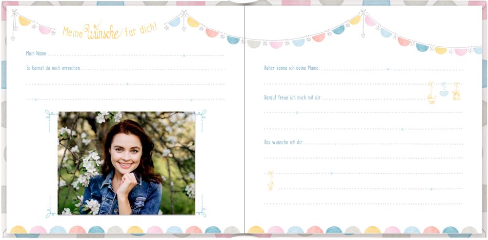 Babys erstes Gästebuch - Wünsche für dich (Baby Shower)