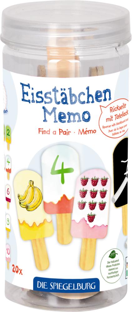 Eisstäbchen Memo - Die Lieben Sieben