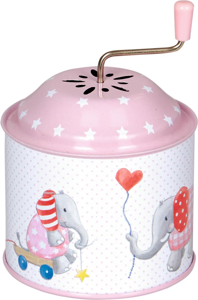Spieluhrdose Elefant BabyGlück, rosa