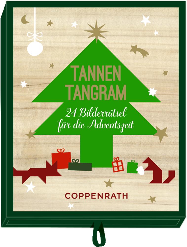Tannen-Tangram - 24 Bilderrätsel ..., Adventsschachtelspiel