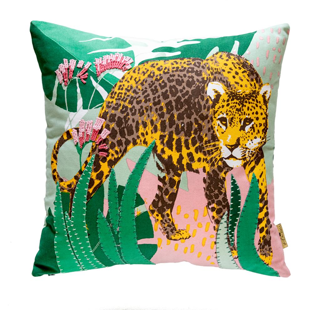 "Kissen Leopard ""I love my Jungle"" (ca.45x45 cm) Garden"
