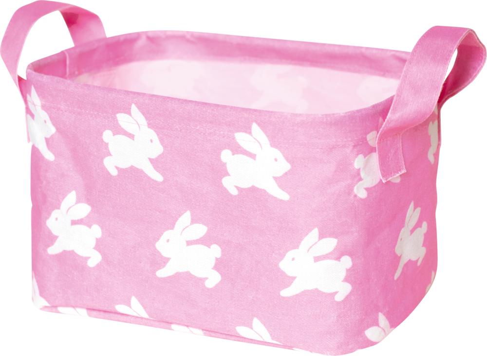 Kleiner Aufbewahrungskorb BabyGlück, rosa Häschen