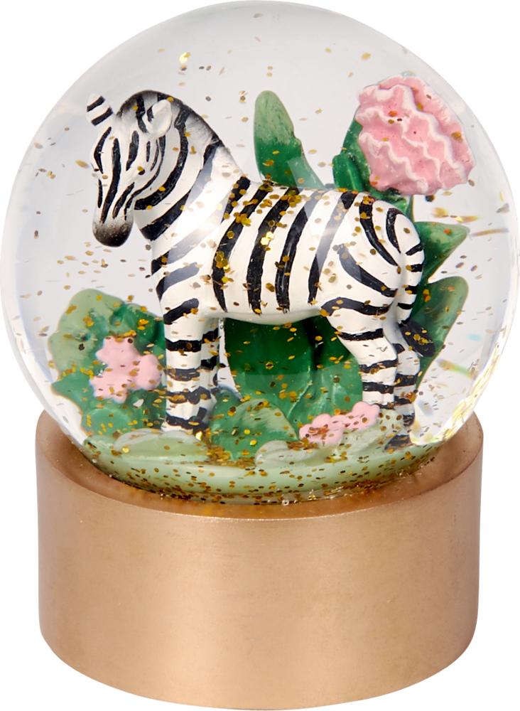 "Glas-Glitzerkugel Zebra ""I love my Jungle"" Garden"
