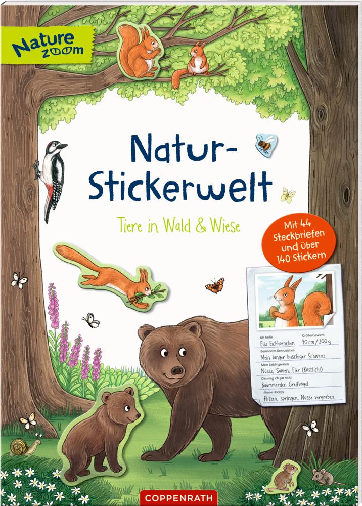 Natur-Stickerwelt: Tiere in Wald & Wiese (Nature Zoom)