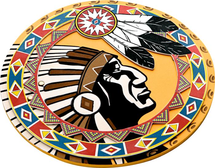 Schild, Indianer - LIONTOUCH