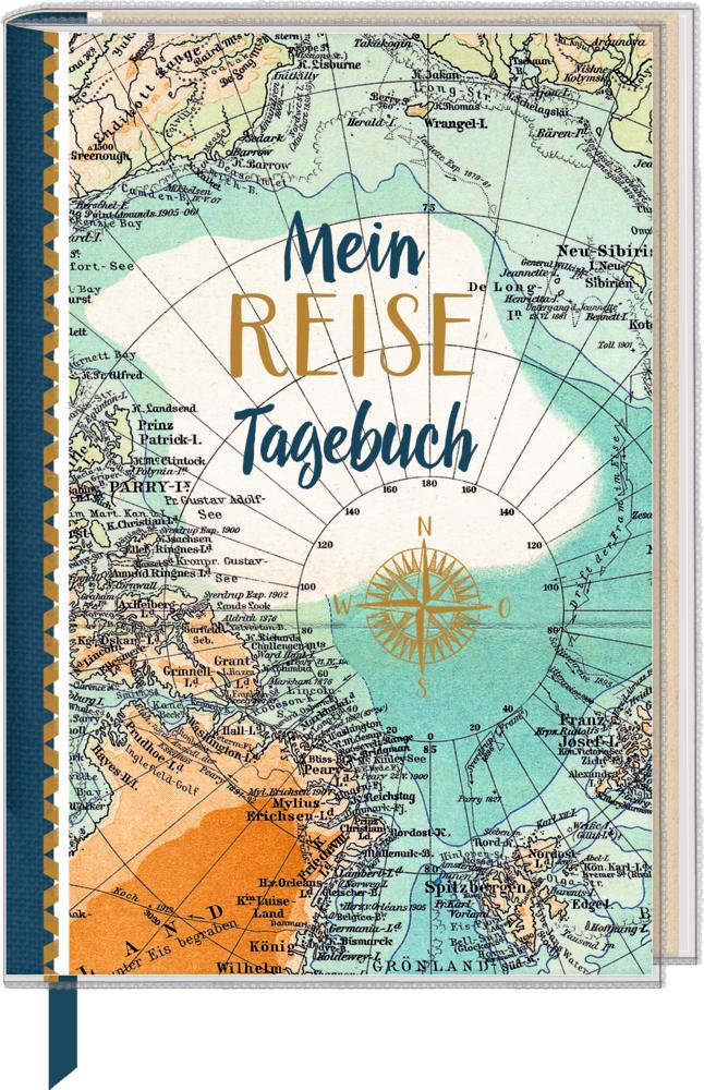 Eintragbuch mit Sammeltasche: Mein Reisetagebuch (Landkarte) Reisezeit