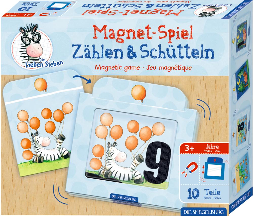 Magnetspiel Zählen & Schütteln Die Lieben Sieben